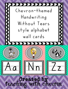 Chevron Handwriting Without Tears style Alphabet