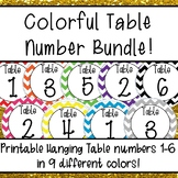 Chevron  Hanging Table Numbers Bundle