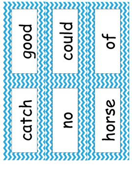 Chevron High Frequency Words for 1st Grade Reading Street **ALL 6 UNITS**