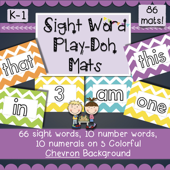 Literacy Playdoh Mats: Sight Words, Numbers- Easy Prep Literacy Center