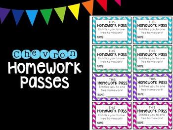 Chevron Homework Pass