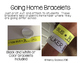 How are you going home? Chart, Backpack Tags, and Bracelet