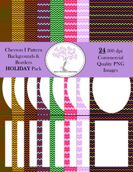 Chevron I Backgrounds and Borders HOLIDAY Pack