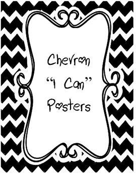 Chevron I Can Posters
