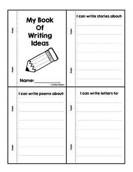 Writing Center Posters with Prewriting Activity Minibook