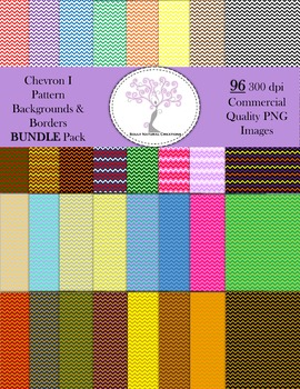 Chevron I Pattern Backgrounds and Borders BUNDLE Pack
