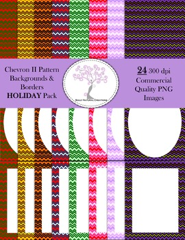 Chevron II Backgrounds and Borders HOLIDAY Pack