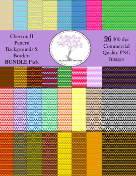 Chevron II Pattern Backgrounds and Borders BUNDLE Pack