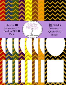 Chevron III Backgrounds and Borders BOLD Pack