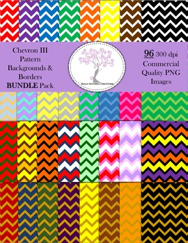 Chevron III Pattern Backgrounds and Borders BUNDLE Pack