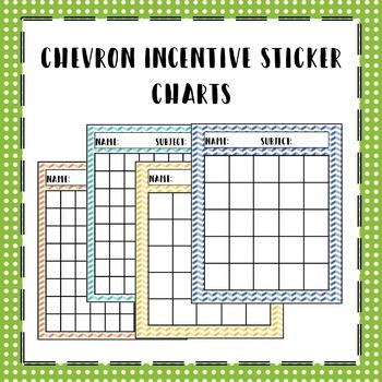 Chevron Incentive Sticker Charts