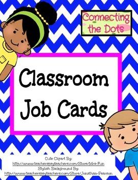 Chevron Job Classroom Charts (Blue)