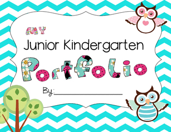 Chevron Junior Kindergarten Owl Portfolio