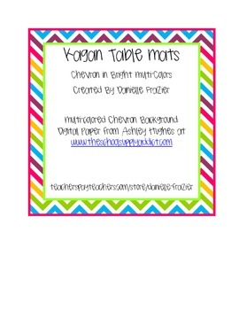 Chevron Cooperative Learning Partner Table Mat (Rainbow)