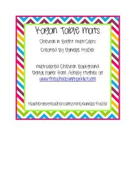 Chevron Cooperative Learning Partner Table Mat (Rainbow)