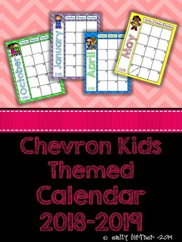 Chevron Kids 2016-2017 School Year Calendar