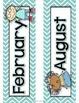 Chevron Kids Calendar Cards Classroom Theme Set for Back to School