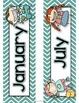 Chevron Kids Calendar Cards Classroom Theme Set for Back t