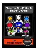 Chevron Kids Editable Binder Covers