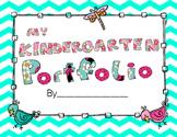 Chevron Kindergarten Portfolio