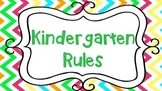 Chevron Kindergarten Rules