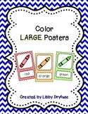 Color Posters - Large {Bright Chevron}
