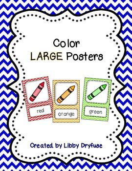 Color Posters - Large {Bright Chevron}