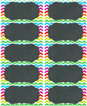 chevron labels 10 per page by a piece of the pi math and more tpt