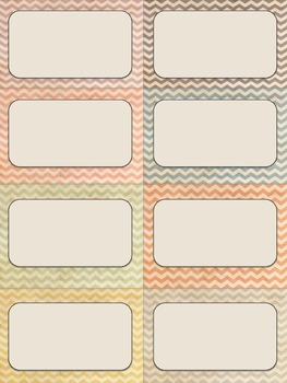 Shabby Chic Chevron Labels