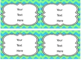 Chevron Labels - Blue and Green