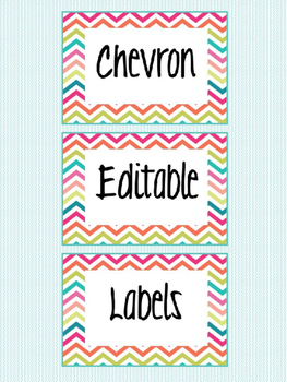 Chevron Labels (Editable)