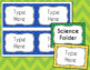 Chevron Labels Editable Classroom Notebook Folder Name Tags (Avery 5168, 8168)
