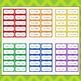 Editable Chevron Labels Notebook Folder (Avery 5163, 8163)