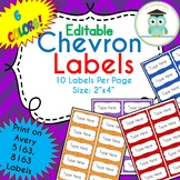 Editable Chevron Labels Notebook Folder (Avery 5163, 8163)