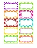 Chevron Labels (Multicolor) - Editable file