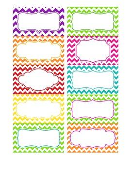 Chevron Labels (Multicolor) - Editable file