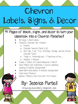Chevron Labels, Signs, & Decor: Mega Pack