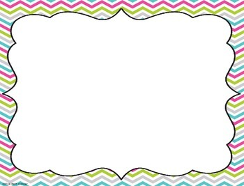 {Freebie!} Chevron Labels, Signs, and Cards for the Classroom!