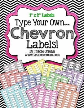 Labels Chevron Editable {1x2 Avery 5160} by Tracee Orman | TpT