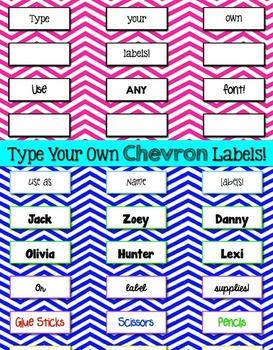 Labels Chevron Editable {1x2 Avery 5160}