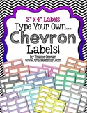 Labels Chevron Editable {2x4 Avery 5163}