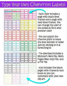 Labels Chevron Editable {2x4 Avery 5163} by Tracee Orman | TpT