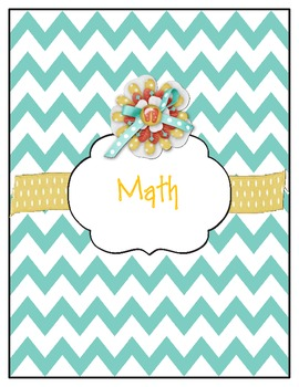 Chevron Labels for Your Teacher Binder