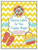 Chevron Labels for Your Teacher Binder