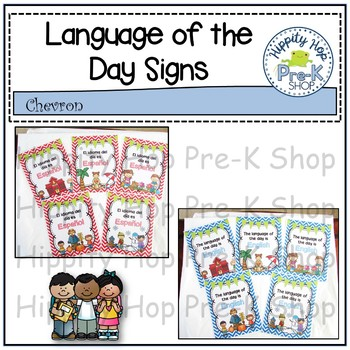 Chevron Language of the Day Signs