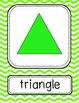 2D Shapes Posters - Large {Bright Chevron}