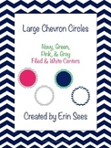 Chevron Large Circles - Editable