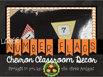 Chevron Large Number Flags
