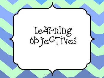 Chevron Learning Objectives Posters