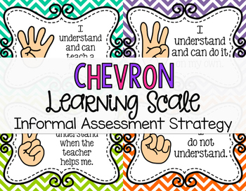 Chevron Learning Scale by Mrs Cain's Creations